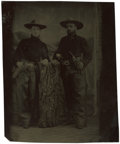 Photography:Tintypes, Sixth Plate Tintype of Two Armed Hombres, circa 1860....
