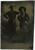 Photography:Tintypes, Sixth Plate Tintype of Two Unknown Cowboys, circa 1860....