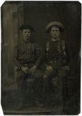 Photography:Tintypes, Sixth Plate Tintype of Two Nattily Attired Cowboys....