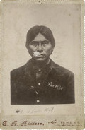 Photography:Cabinet Photos, Bust Cabinet Image of The Apache Kid, circa 1890s....