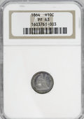 Proof Seated Half Dimes: , 1864 H10C PR63 NGC. NGC Census: (21/75). PCGS Population (48/70).Mintage: 470. Numismedia Wsl. Price for NGC/PCGS coin in ...