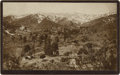 Photography:Cabinet Photos, Dramatic Boudoir View of New Mexico Mountain Settlement, 1894....