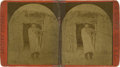 Photography:Stereo Cards, Henry Buehman Stereoview Image of Diablo, Chief of the Coyotero Apaches, circa...