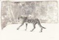 Texas:Early Texas Art - Regionalists, KELLY FEARING (American, b. 1918). Snow Leopard, 1973. Mixedmedia. 11 x 16 inches (27.9 x 40.6 cm). Signed and dated lo...