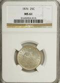 Seated Quarters: , 1876 25C MS61 NGC. NGC Census: (30/269). PCGS Population (28/338).Mintage: 17,817,150. Numismedia Wsl. Price for NGC/PCGS ...