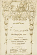 Miscellaneous:Brochures, Printed Invitation to the Annual Ball of the Jefferson Guards....