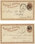Miscellaneous:Ephemera, Two Postcards Addressed to Sharps Rifle Company, circa 1870s. ...(Total: 2 Items)