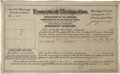 Western Expansion:Indian Artifacts, Mississippi Choctaws and Chickasaws Certificate for Forty Acres 1907. ...