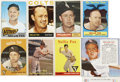 Baseball Cards:Lots, 1957-1975 Topps & Red Man Nellie Fox (HoF) Collection (17)....