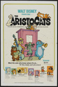 "Movie Posters:Animated, The Aristocats (Buena Vista, 1971). One Sheet (27"" X 41"").Animated...."