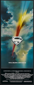 """Movie Posters:Action, Superman the Movie (Warner Brothers, 1978). Insert (14"""" X 36"""").Action...."""