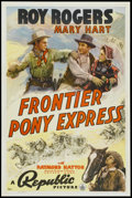 "Movie Posters:Western, Frontier Pony Express (Republic, 1939). One Sheet (27"" X 41""). Western...."