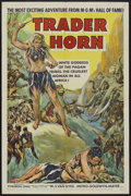 "Movie Posters:Adventure, Trader Horn (MGM, R-1953). One Sheet (27"" X 41""). Adventure...."