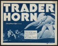 "Movie Posters:Adventure, Trader Horn (MGM, R-1940s). Lobby Card Set of 8 (11"" X 14"").Adventure.... (Total: 8 Items)"
