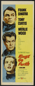 "Movie Posters:War, Kings Go Forth (United Artists, 1958). Insert (14"" X 36""). War...."