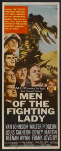 "Movie Posters:War, Men of the Fighting Lady (MGM, 1954). Insert (14"" X 36""). War...."