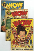 Golden Age (1938-1955):Miscellaneous, Wow Comics #18, 24, and 25 Group (Fawcett, 1943-44).... (Total: 3 Comic Books)
