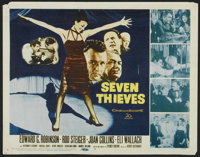 """Seven Thieves (20th Century Fox, 1959). Lobby Card Set of 8 (11"""" X 14""""). Crime.... (Total: 8 Items)"""