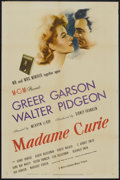 "Movie Posters:Drama, Madame Curie (MGM, 1943). One Sheet (27"" X 41"") Style D. Drama...."