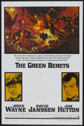 """Movie Posters:War, The Green Berets (Warner Brothers, 1968). One Sheet (27"""" X 41"""").War...."""