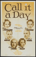 """Movie Posters:Comedy, Call It a Day (Warner Brothers, 1937). One Sheet (27"""" X 41"""").Comedy...."""