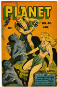 Golden Age (1938-1955):Science Fiction, Planet Comics #40 (Fiction House, 1946) Condition: VG/FN....