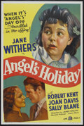 """Movie Posters:Comedy, Angel's Holiday (20th Century Fox, 1937). One Sheet (27"""" X 41"""").Comedy...."""