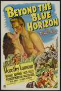 "Movie Posters:Adventure, Beyond the Blue Horizon (Paramount, 1942). One Sheet (27"" X 41"")Adventure...."