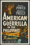"Movie Posters:War, American Guerrilla in the Philippines (20th Century Fox, 1950). OneSheet (27"" X 41""). War...."
