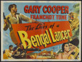 "Movie Posters:Adventure, The Lives of a Bengal Lancer (Eros, R-1950s). British Quad (30"" X40""). Adventure...."