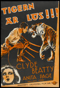 "Movie Posters:Adventure, The Big Cage (Universal, 1933). Swedish One Sheet (27"" X 39""). Adventure...."