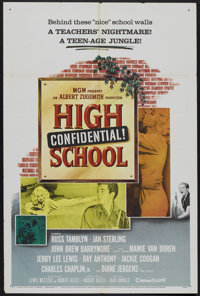 """High School Confidential (MGM, 1958). One Sheet (27"""" X 41""""). Crime"""