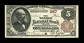 National Bank Notes:Connecticut, Norwich, CT - $5 1882 Brown Back Fr. 467 The Thames NB Ch. # 657. ...