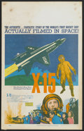"Movie Posters:Adventure, X-15 (United Artists, 1961). Window Card (14"" X 22""). Adventure...."