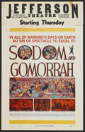 "Movie Posters:Historical Drama, Sodom and Gomorrah (20th Century Fox, 1963). Window Card (14"" X 22""). Historical Drama...."