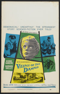 "Village of the Damned (MGM, 1960). Window Card (14"" X 22""). Science Fiction"