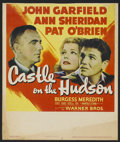 "Movie Posters:Crime, Castle on the Hudson (Warner Brothers, 1940). Window Card (14"" X 16.5""). Crime...."