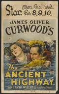 "Movie Posters:Adventure, The Ancient Highway (Paramount, 1925). Window Card (14"" X 22"").Adventure...."
