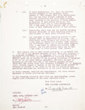Movie/TV Memorabilia:Autographs and Signed Items, Jerry Lewis Signed Contract....