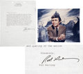 Movie/TV Memorabilia:Autographs and Signed Items, Rod Serling Signed Letter with Photo.... (Total: 2 Items)