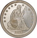 Seated Quarters, 1877-S 25C MS66 NGC....