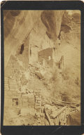 Photography:Cabinet Photos, Stunning Boudoir Image of Cliff Dwellings, 1896....