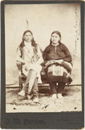 Photography:Cabinet Photos, Cabinet Card of Winona Corndropper and Husband, circa 1890s....