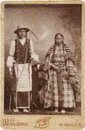 Photography:Cabinet Photos, Photograph: Two Native American Indians, El Reno, I.T., circa 1880s. ...