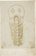 Photography:Cabinet Photos, Cabinet Card of Indian Infant in Cradle, circa 1900....
