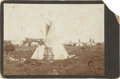 Photography:Cabinet Photos, Cabinet Card of Unidentified Indian Camp, circa 1880s....