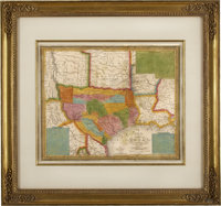 Samuel Augustus Mitchell. A New Map of Texas with the Contiguous American and Mexican States, 1836<