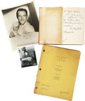 Movie/TV Memorabilia:Autographs and Signed Items, Dorothy Parker Signed Book with A Star is Born Script and Photos.... (Total: 4 Items)