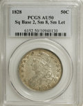 Bust Half Dollars: , 1828 50C Square Base 2, Small 8, Small Letters AU50 PCGS. PCGSPopulation (3/22). (#6152)...