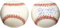Autographs:Baseballs, Billy Williams and Ron Santo Single Signed Baseballs Lot of 2....